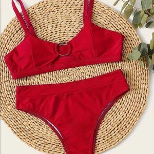 Red Bikini With Gold Ring
